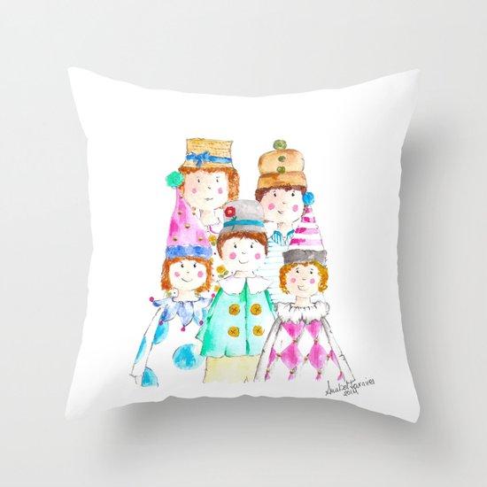 Circus Friends Throw Pillow