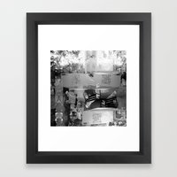 Summer space, smelting selves, simmer shimmers. [extra, 9, grayscale version] Framed Art Print