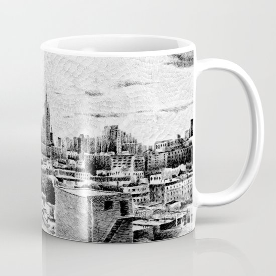 New York City - Fingerprint - Black ink Mug