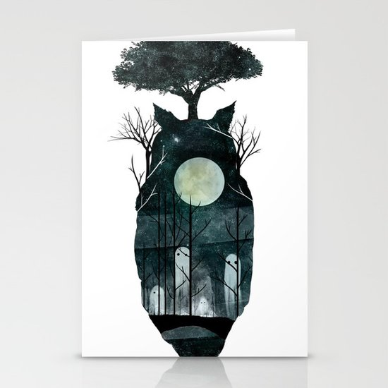 March of the Forest Spirits Stationery Card