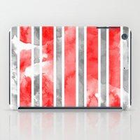 Watercolour Stripe - Red iPad Case