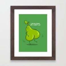 One sASSy pear! Framed Art Print