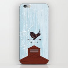 Illustration - Rooster Weather Vane On Textured Sky iPhone & iPod Skin