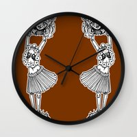 Headless Hula Girl By Ro… Wall Clock