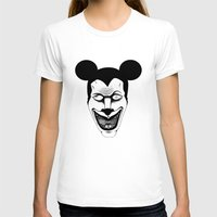 Maniac Mickey Womens Fitted Tee White SMALL