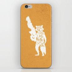 What's a Raccoon? iPhone & iPod Skin