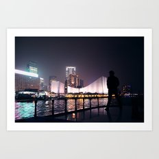 Hong Kong harbour Art Print