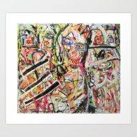 Les Demoiselles D'Bushwi… Art Print