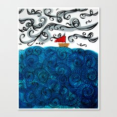 Elemental Duo: Water & Air Canvas Print