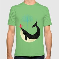The Bird And The Whale Mens Fitted Tee Grass SMALL