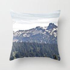 Smoky Skyline Throw Pillow