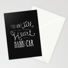 Money Won't Buy Happiness. Stationery Cards