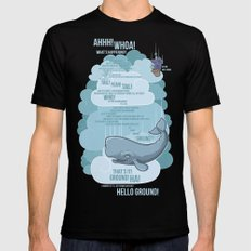 Petunia & Whale Mens Fitted Tee Black SMALL