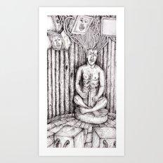 digital meditation Art Print