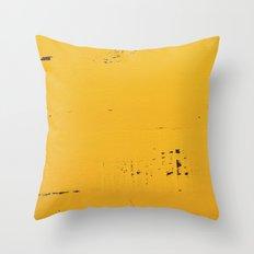 Vintage Yellow Wood Throw Pillow