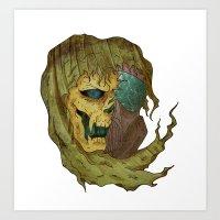 Skull Dragger Art Print