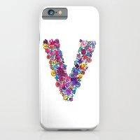 V Letter Floral iPhone 6 Slim Case
