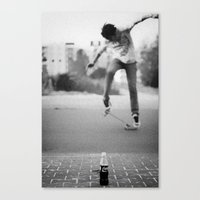 Coke & Skate Canvas Print