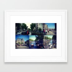 Photo collage Amsterdam 1  Framed Art Print