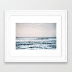 Peace and Ocean Framed Art Print