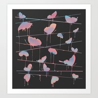 Hanging On for Dear Life Art Print