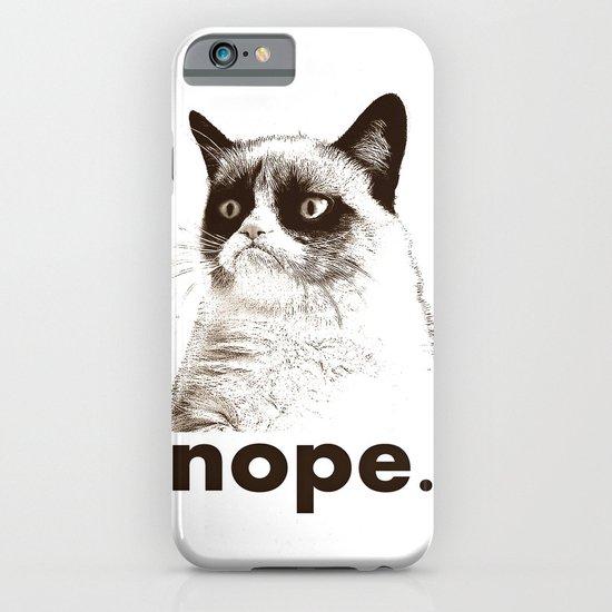 GRUMPY CAT - Nope (version 2) iPhone & iPod Case