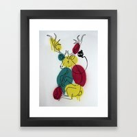 Ciervo Deer Framed Art Print