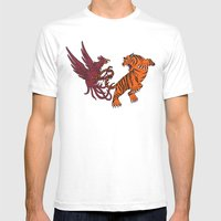 Cocks Vs Tigers Mens Fitted Tee White SMALL