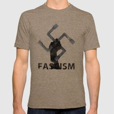 Fascism Mens Fitted Tee Tri-Coffee SMALL