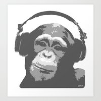 DJ MONKEY Art Print