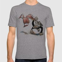 Epic Battle- Dennis Dino… Mens Fitted Tee Athletic Grey SMALL