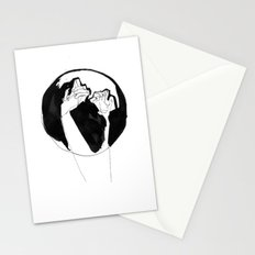 moonlight hands Stationery Cards