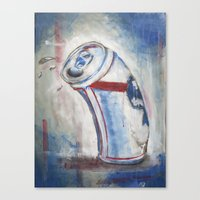 Beer Can Canvas Print