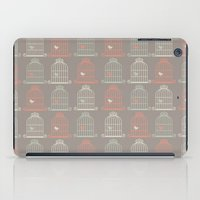 Bird Cage Pattern, Illustration, Shabby Chic, Vintage, iPad Case