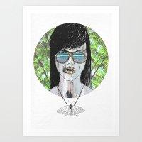 Tropical Zombie  Art Print