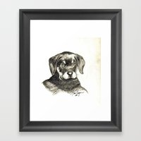 Pencil/Charcoal 2 Framed Art Print