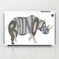 Rhinoceros Typography iPad Case