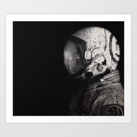 Staring Into Space Art Print