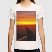 Sunset at 30,000 Feet Womens Fitted Tee Natural SMALL