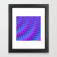 Framed Art Print featuring Blue And Purple ZigZag D… by Kirsten Star