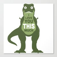 Amourosaurus Canvas Print