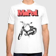 Moped Mens Fitted Tee White SMALL