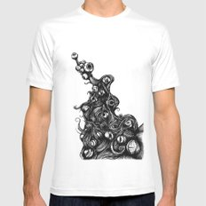 EYELIGHT White SMALL Mens Fitted Tee
