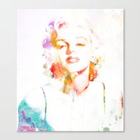 Marilyn Monroe Watercolo… Canvas Print