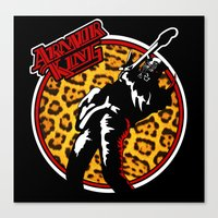 Armor King 80s Rock Shirt Canvas Print