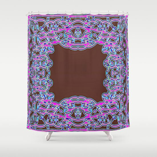 In The Pink Colorfoil Bandanna Shower Curtain