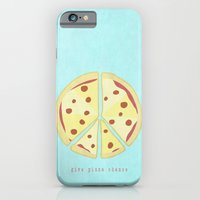 iPhone & iPod Case featuring Give Pizza Chance by Josh Franke