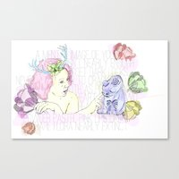 Spring & Her Cat Canvas Print
