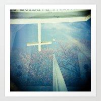 Inverted Cross Blossom Art Print