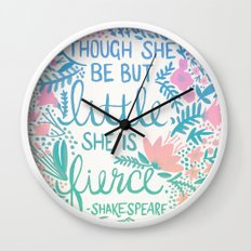 Little & Fierce – Lavender Mint Ombré Wall Clock